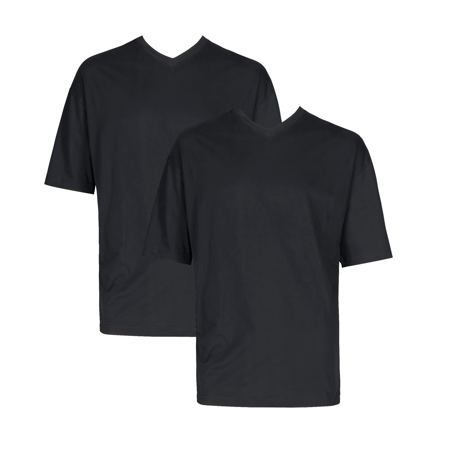 doppelpack maverick v t shirt in schwarz bis 10xl von adamo t shirts. Black Bedroom Furniture Sets. Home Design Ideas